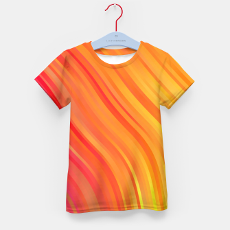 stripes wave pattern 1 w81vi Kid's t-shirt miniature
