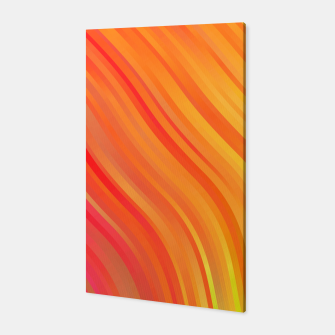 stripes wave pattern 1 w81vi Canvas miniature