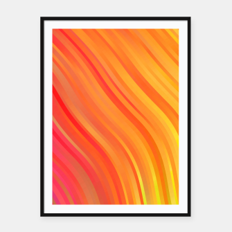 stripes wave pattern 1 w81vi Framed poster miniature