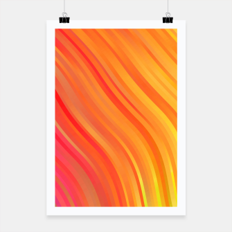 stripes wave pattern 1 w81vi Poster miniature