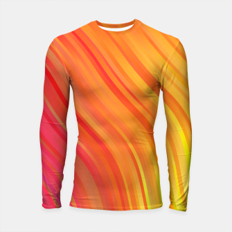 stripes wave pattern 1 w81vi Longsleeve rashguard  miniature