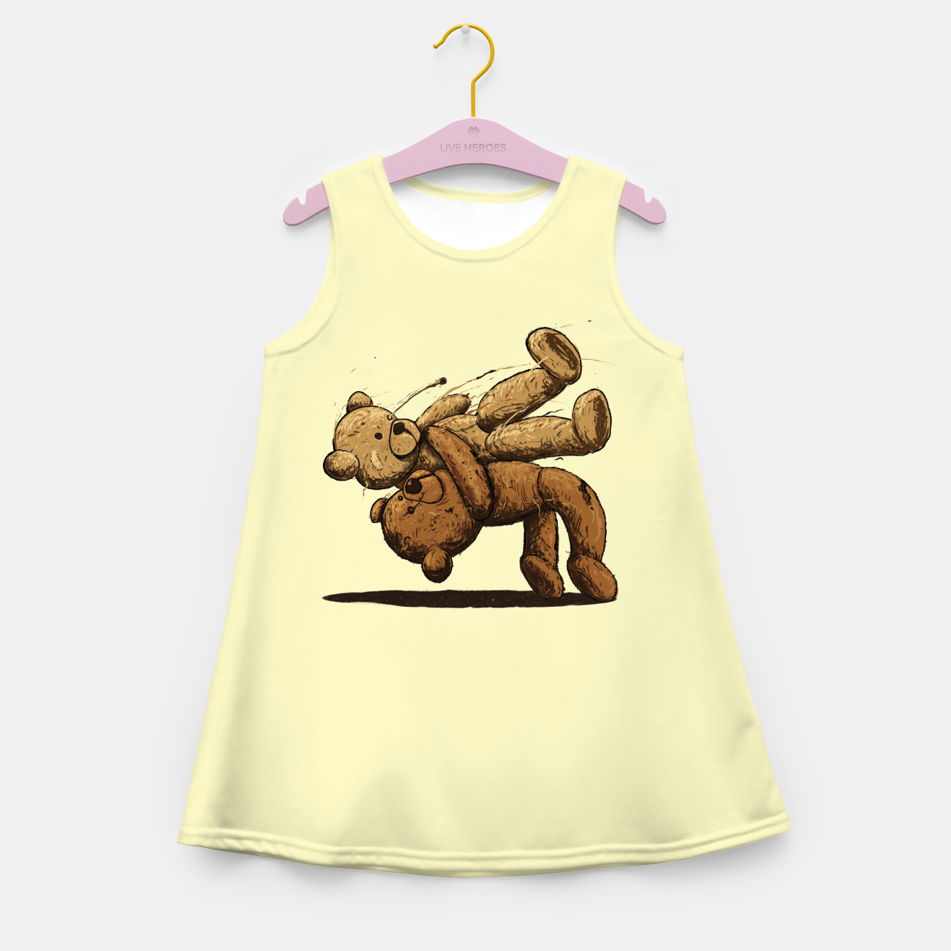 Image of Bear Hug Girl's summer dress - Live Heroes