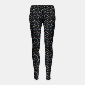 Thumbnail image of Enchanted Garden-Holographic Girl's leggings, Live Heroes