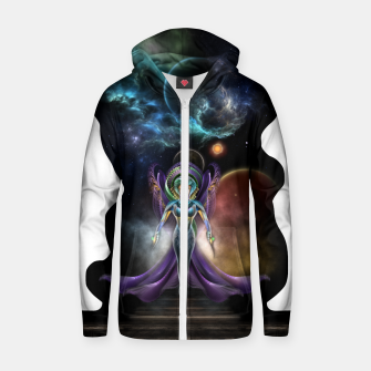 Miniaturka The Elegance Of Trilia Fractal Portrait ISO Zip up hoodie, Live Heroes