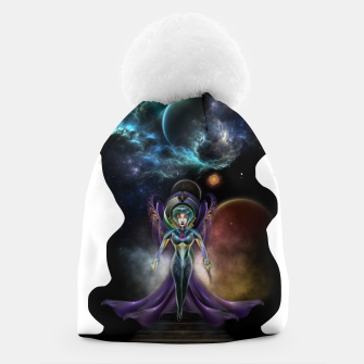 Thumbnail image of The Elegance Of Trilia Fractal Portrait ISO Beanie, Live Heroes