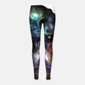 Thumbnail image of The Elegance Of Trilia Fractal Portrait ISO Girl's leggings, Live Heroes