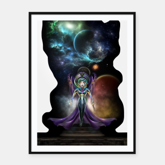 Thumbnail image of The Elegance Of Trilia Fractal Portrait ISO Framed poster, Live Heroes