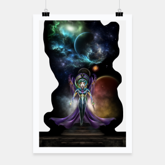 Thumbnail image of The Elegance Of Trilia Fractal Portrait ISO Poster, Live Heroes