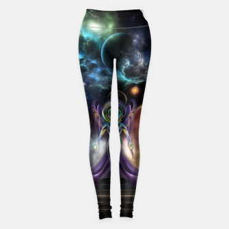 Thumbnail image of The Elegance Of Trilia Fractal Portrait ISO Leggings, Live Heroes