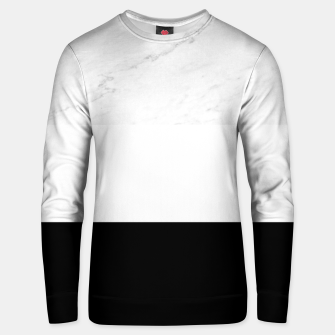 Thumbnail image of Stripes marble black white Unisex sweater, Live Heroes