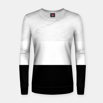 Thumbnail image of Stripes marble black white Women sweater, Live Heroes