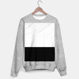 Thumbnail image of Stripes marble black white Sweater regular, Live Heroes