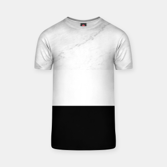 Thumbnail image of Stripes marble black white T-shirt, Live Heroes