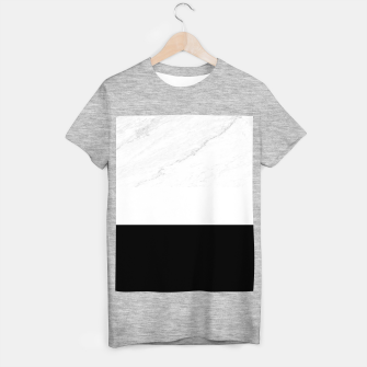 Thumbnail image of Stripes marble black white T-shirt regular, Live Heroes