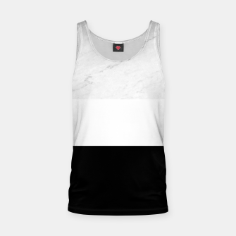 Thumbnail image of Stripes marble black white Tank Top, Live Heroes