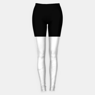 Thumbnail image of Stripes marble black white Leggings, Live Heroes