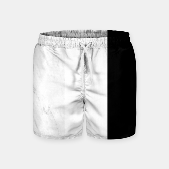 Thumbnail image of Stripes marble black white Swim Shorts, Live Heroes