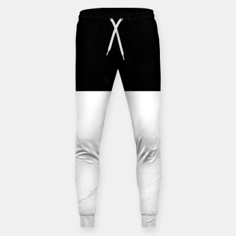 Thumbnail image of Stripes marble black white Sweatpants, Live Heroes