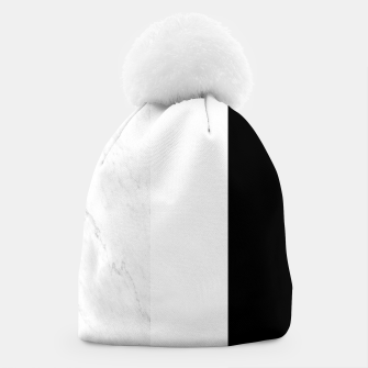 Thumbnail image of Stripes marble black white Beanie, Live Heroes