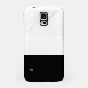 Thumbnail image of Stripes marble black white Samsung Case, Live Heroes