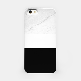 Thumbnail image of Stripes marble black white iPhone Case, Live Heroes