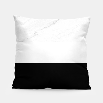 Thumbnail image of Stripes marble black white Pillow, Live Heroes