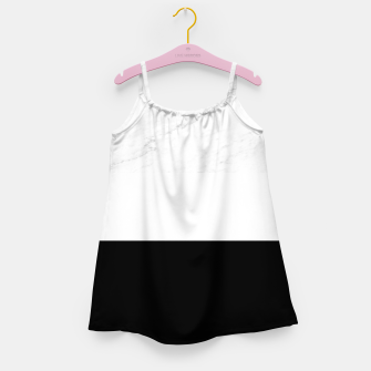Thumbnail image of Stripes marble black white Girl's dress, Live Heroes