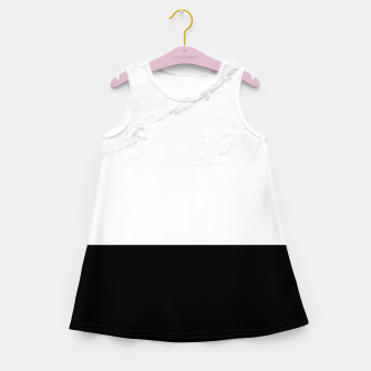 Thumbnail image of Stripes marble black white Girl's summer dress, Live Heroes