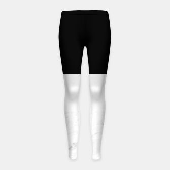 Thumbnail image of Stripes marble black white Girl's leggings, Live Heroes