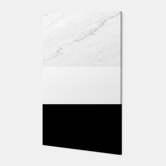 Thumbnail image of Stripes marble black white Canvas, Live Heroes