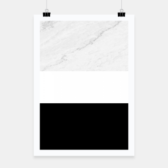 Thumbnail image of Stripes marble black white Poster, Live Heroes