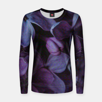 Thumbnail image of Lavender Floral Women sweater, Live Heroes