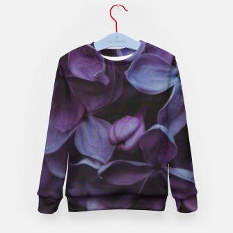 Thumbnail image of Lavender Floral Kid's sweater, Live Heroes
