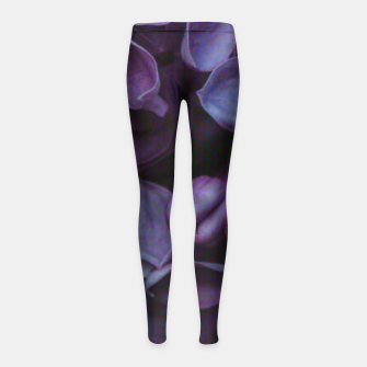 Thumbnail image of Lavender Floral Girl's leggings, Live Heroes
