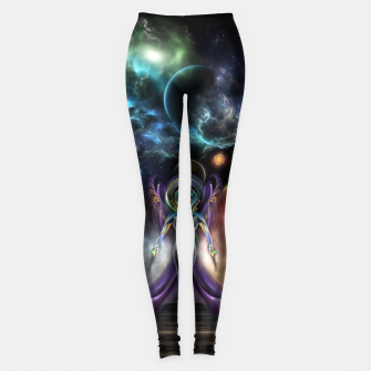 Thumbnail image of The Elegance Of Trilia Fractal Portrait Leggings, Live Heroes