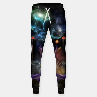Thumbnail image of The Elegance Of Trilia Fractal Portrait Sweatpants, Live Heroes