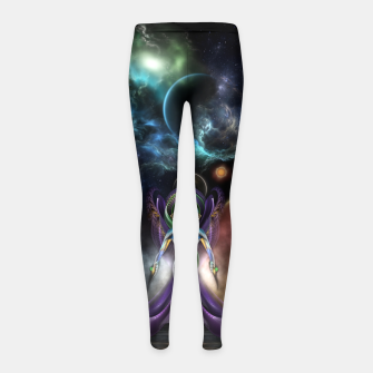 Miniaturka The Elegance Of Trilia Fractal Portrait Girl's leggings, Live Heroes
