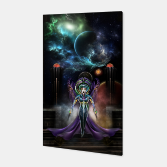 Thumbnail image of The Elegance Of Trilia Fractal Portrait Canvas, Live Heroes
