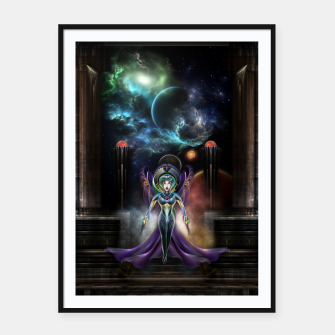 Thumbnail image of The Elegance Of Trilia Fractal Portrait Framed poster, Live Heroes