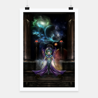 Thumbnail image of The Elegance Of Trilia Fractal Portrait Poster, Live Heroes