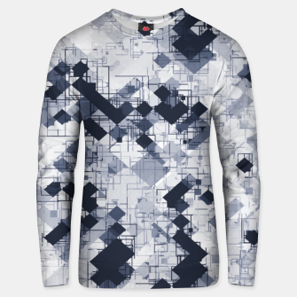 geometric pixel pattern abstract in black and white Unisex sweater miniature