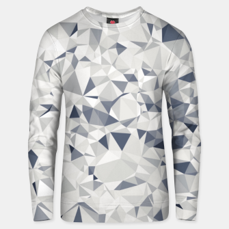 geometric triangle pattern abstract in black and white Unisex sweater miniature