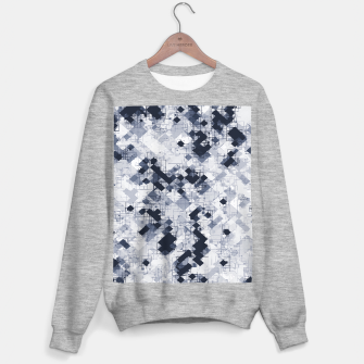geometric pixel pattern abstract in black and white Sweater regular miniature
