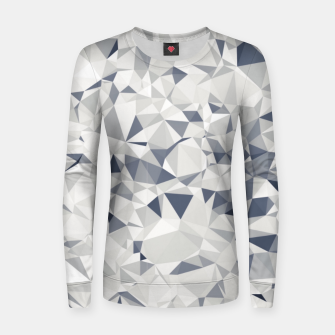 geometric triangle pattern abstract in black and white Women sweater miniature