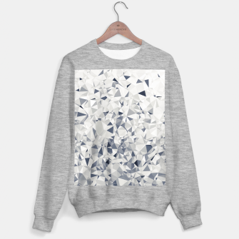 geometric triangle pattern abstract in black and white Sweater regular miniature