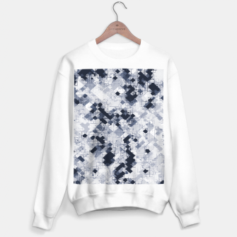 Miniature de image de geometric pixel pattern abstract in black and white Sweater regular, Live Heroes