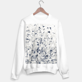 Miniature de image de geometric triangle pattern abstract in black and white Sweater regular, Live Heroes
