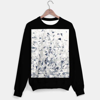 Thumbnail image of geometric triangle pattern abstract in black and white Sweater regular, Live Heroes