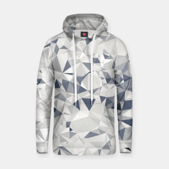 geometric triangle pattern abstract in black and white Hoodie miniature