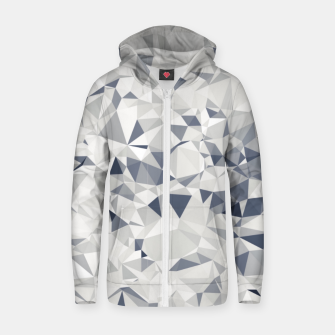 geometric triangle pattern abstract in black and white Zip up hoodie miniature